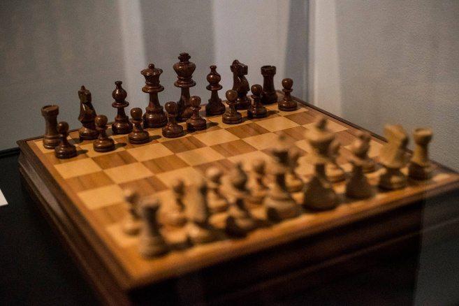 Schackälskaren Stanley Kubricks eget bräde.