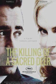 Nicole Kidman och Colin Farrell kollar på varandra genom en glasruta i The Killing of a Sacred Deer.