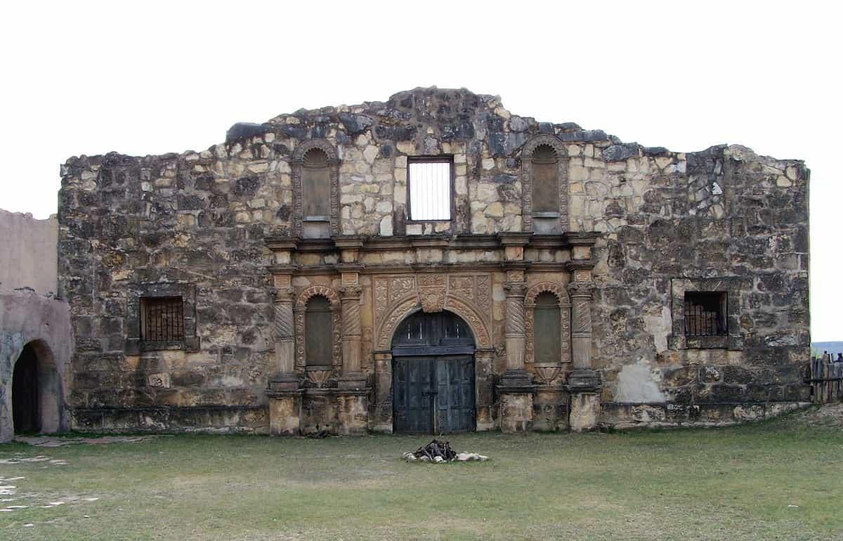 Bilden föreställer The Alamo, inspelningsplatsen för många amerikanska vilda västern filmer under genrens gyllne era.