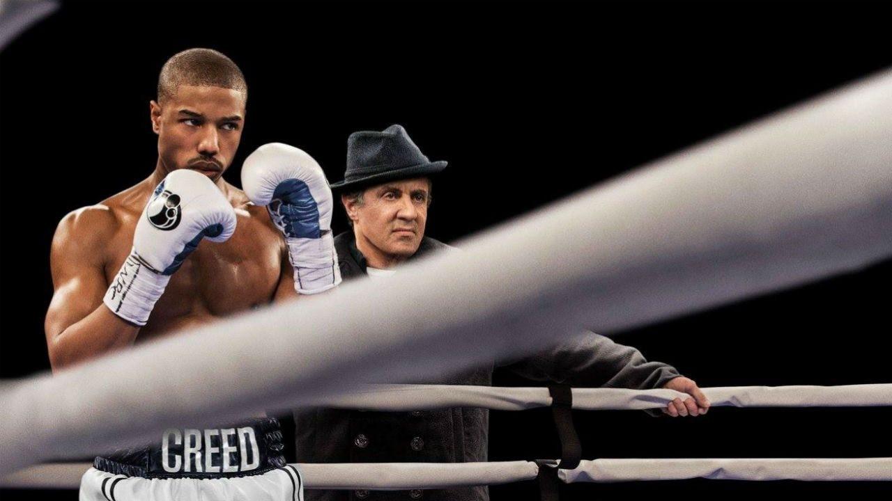 Michael B Jordan och Sylvester Stallone i filmen Creed.