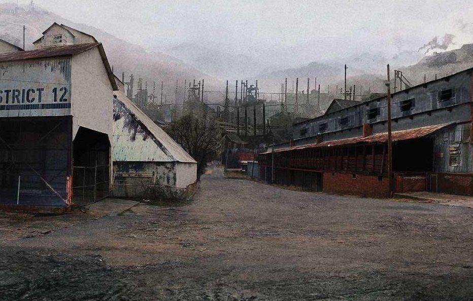 En bild från den övergivna staden Henry Mill Village, ett starkt restips för filmälskaren.