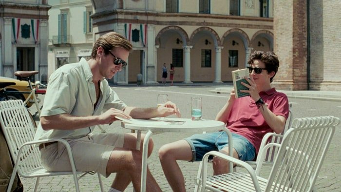"""Armie Hammer och Timothée Chalamet i """"Call Me by Your Name"""""""