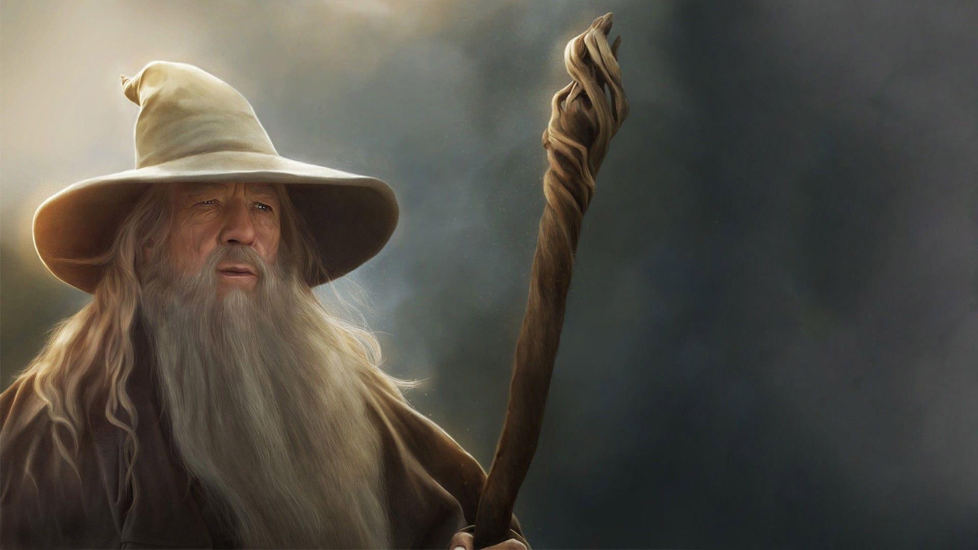 Här ser du en bild på Gandalf