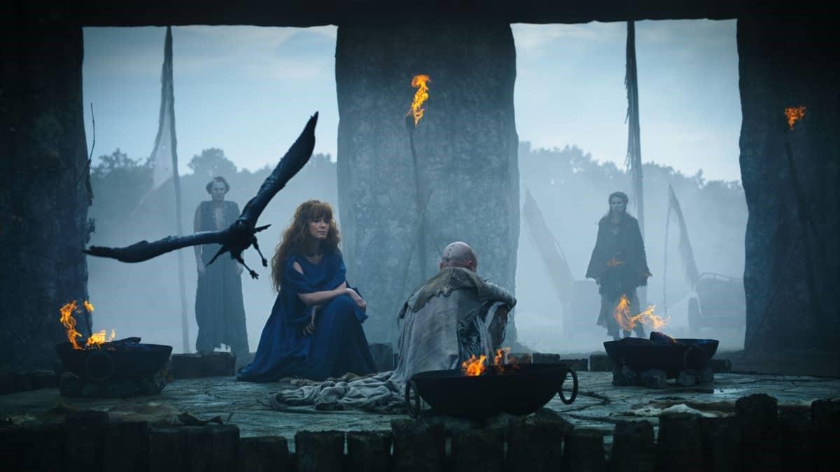 Produktionsbild från serien Britannia