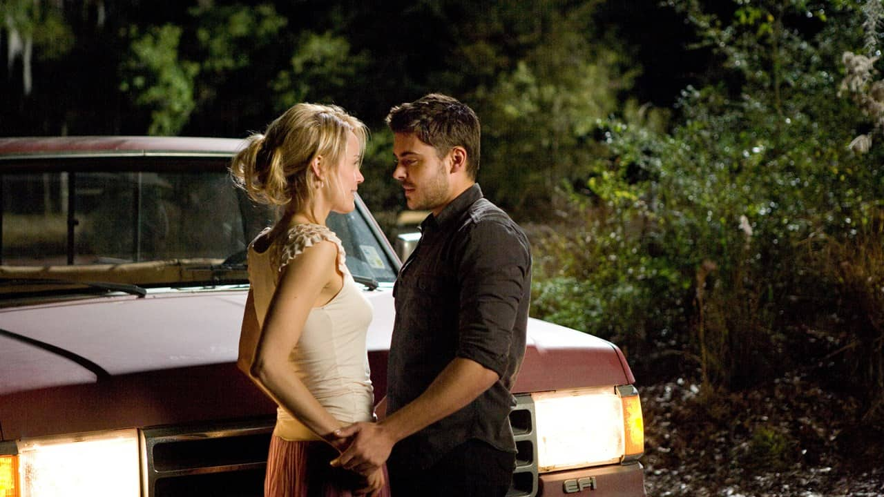 Taylor Schilling och Zac Efron i The Lucky One.