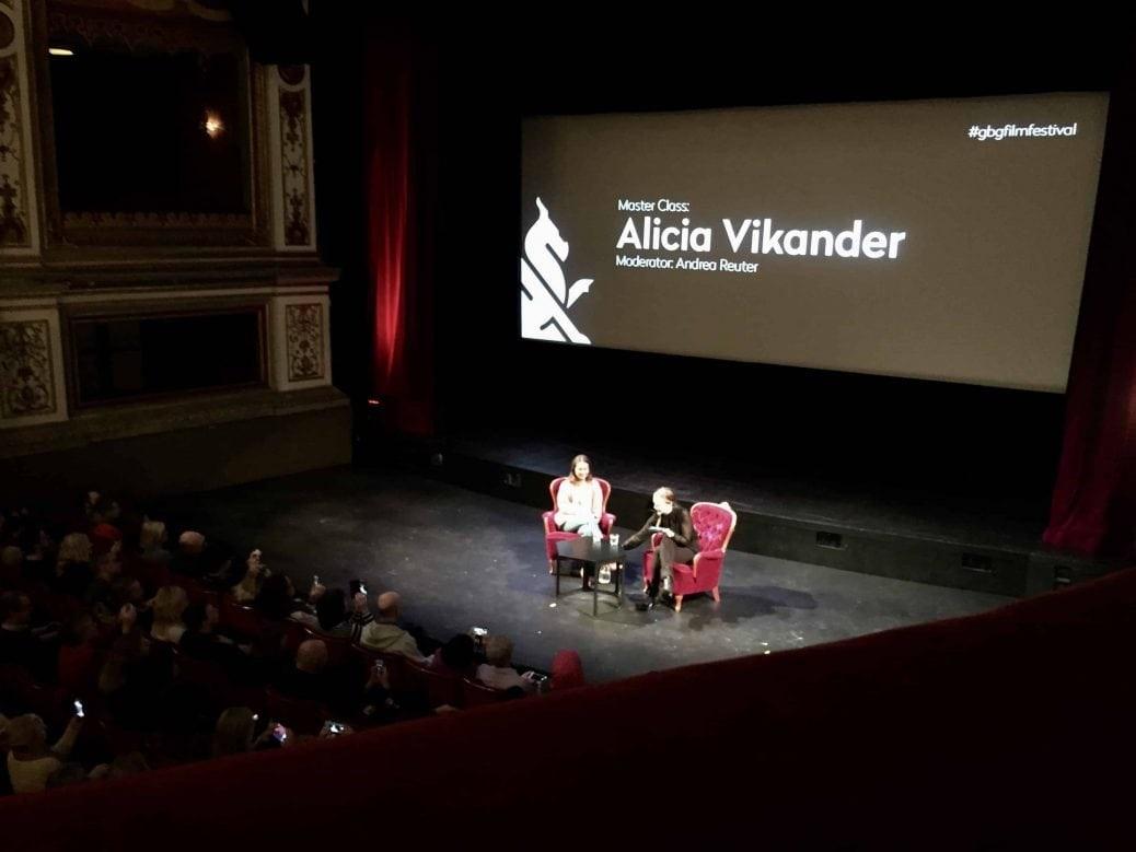 En bild från seminariumet med Alicia Vikander.