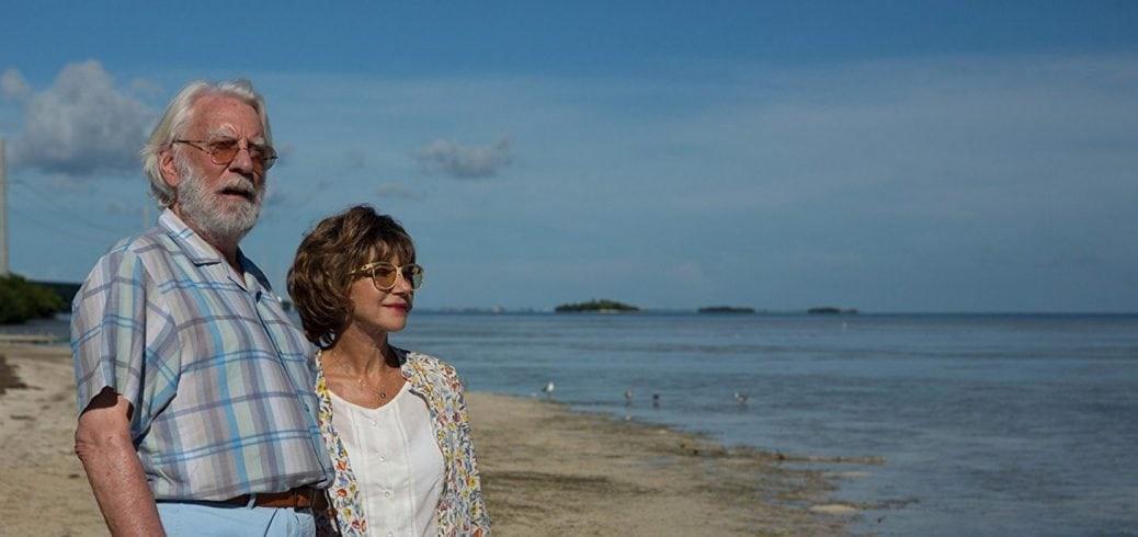 """Från """"En sista semester"""". Ett par står på en strand och tittar ut mot havet."""
