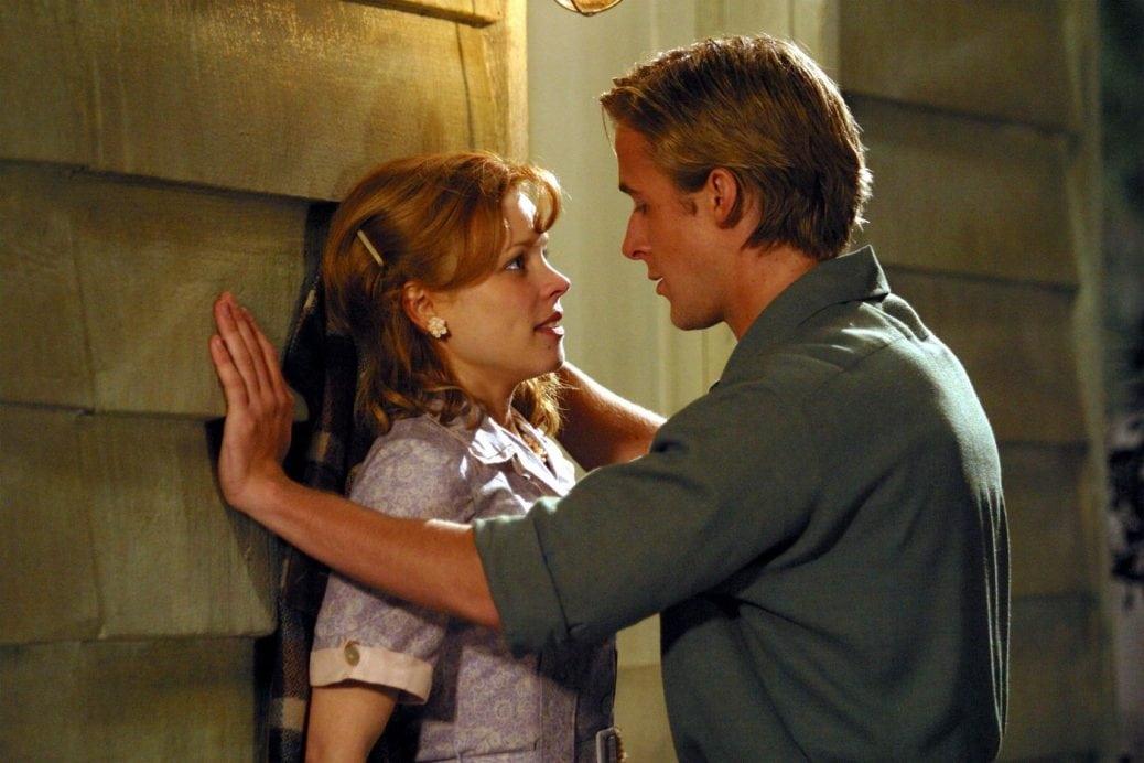 Rachel McAdams och Ryan Gosling i The Notebook.