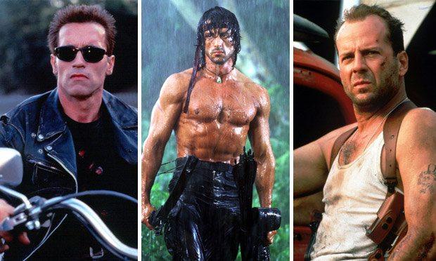 Arnold, Stallone och Bruce
