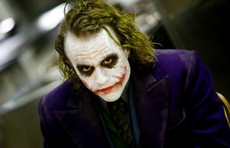 "Heath Ledger som Jokern i Christopher Nolans ""The Dark Knight"""