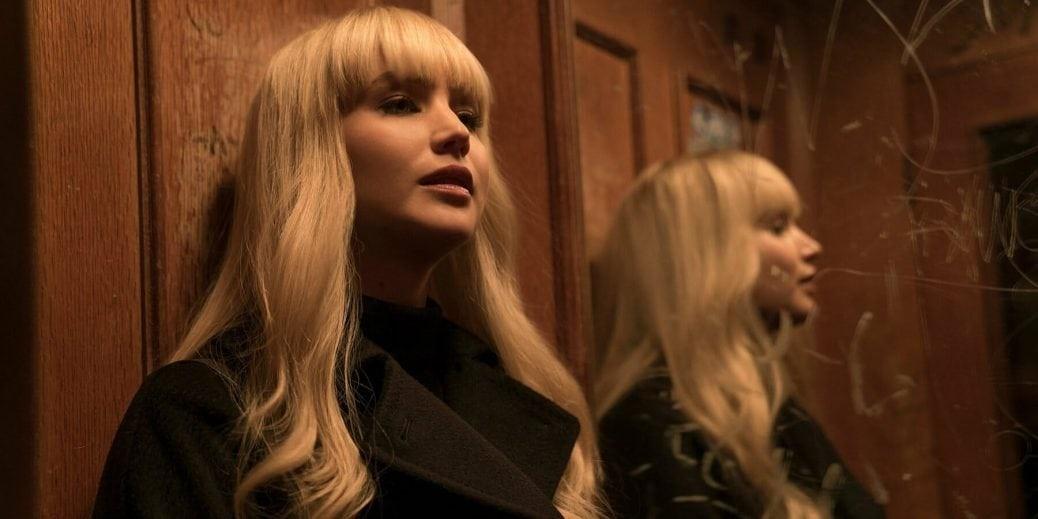 Jennifer Lawrence som Dominika Egorova i filmen Red Sparrow.