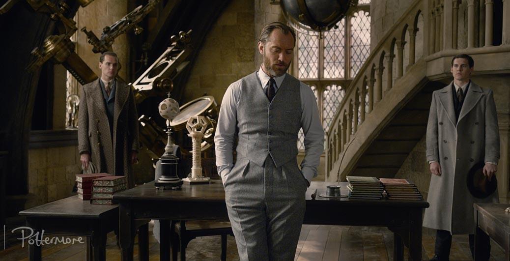 Jude Law som Dumbledore.
