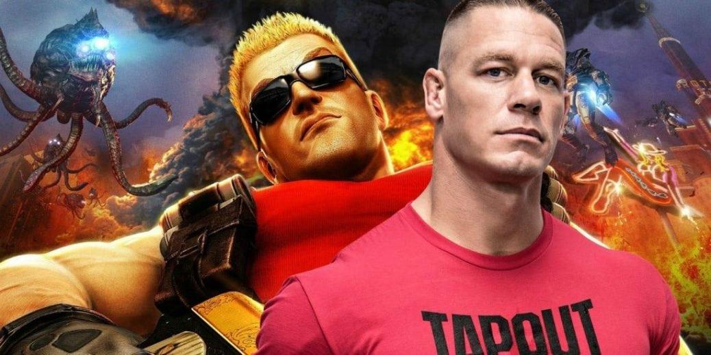 John Cena och spelkaraktären Duke Nukem.