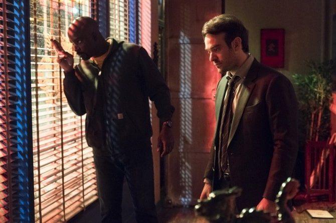 Matt Murdoc och Luke Cage i The Defenders
