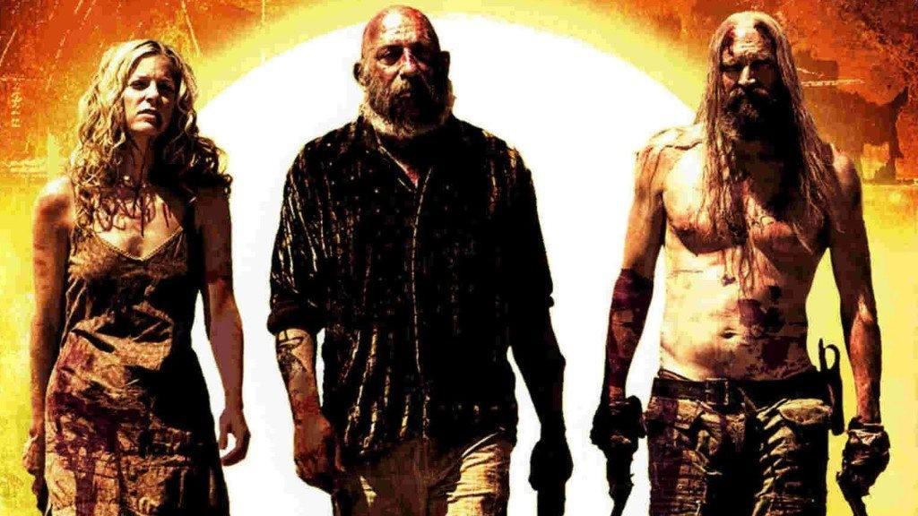 Sheri Moon Zombie, Sid Haig och Bill Moseley i The Devils Recets.