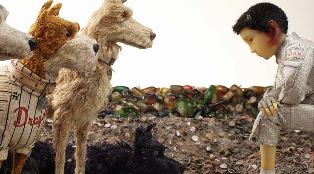 Några av hundarna och Atari Isle of Dogs av Wes Anderson.