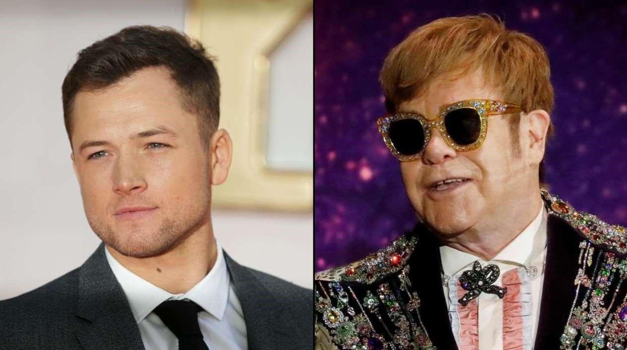 Taron Egerton och Elton John.