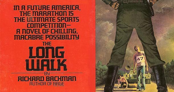 Omslag till The Long Walk, skriven av Stephen King under pseudonymen Richard Bachman