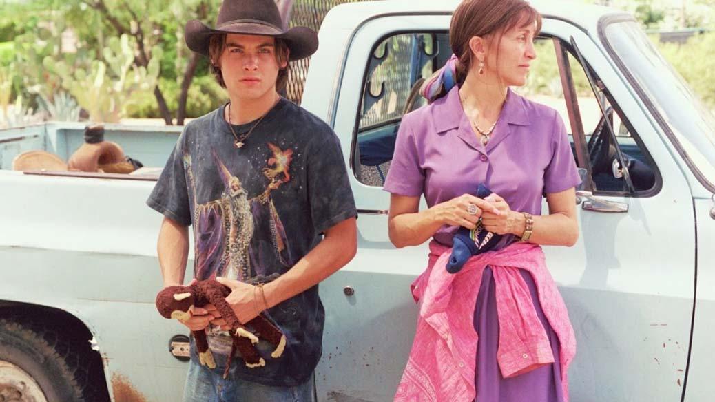Felicity Huffman och Kevin Zegers i Transamerica.