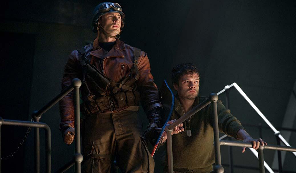 Chris Evans och Sebastian Stan.