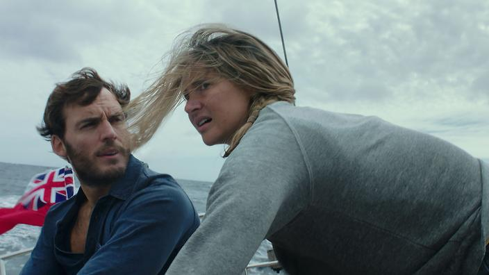 Shailene Woodley och Sam Claflin spelar huvudrollerna i Adrift