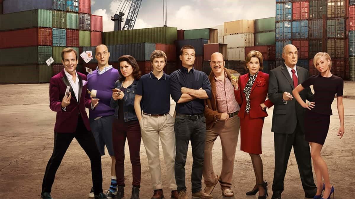 Skådespelarna i tv-serien Arrested Development.