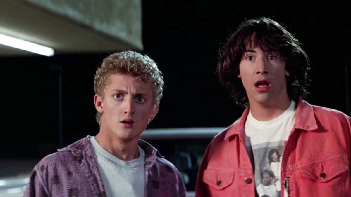 Alex Winter och Keanu Reeves i Bill & Teds galna äventyr.
