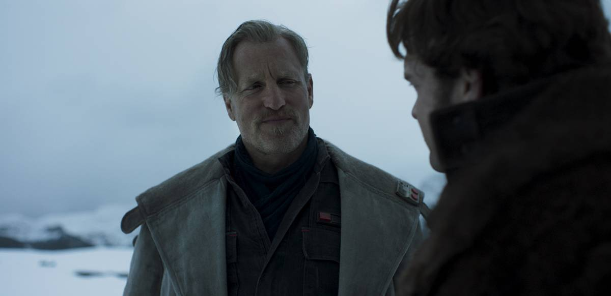 Woody Harrelson i Solo: A Star Wars Story.