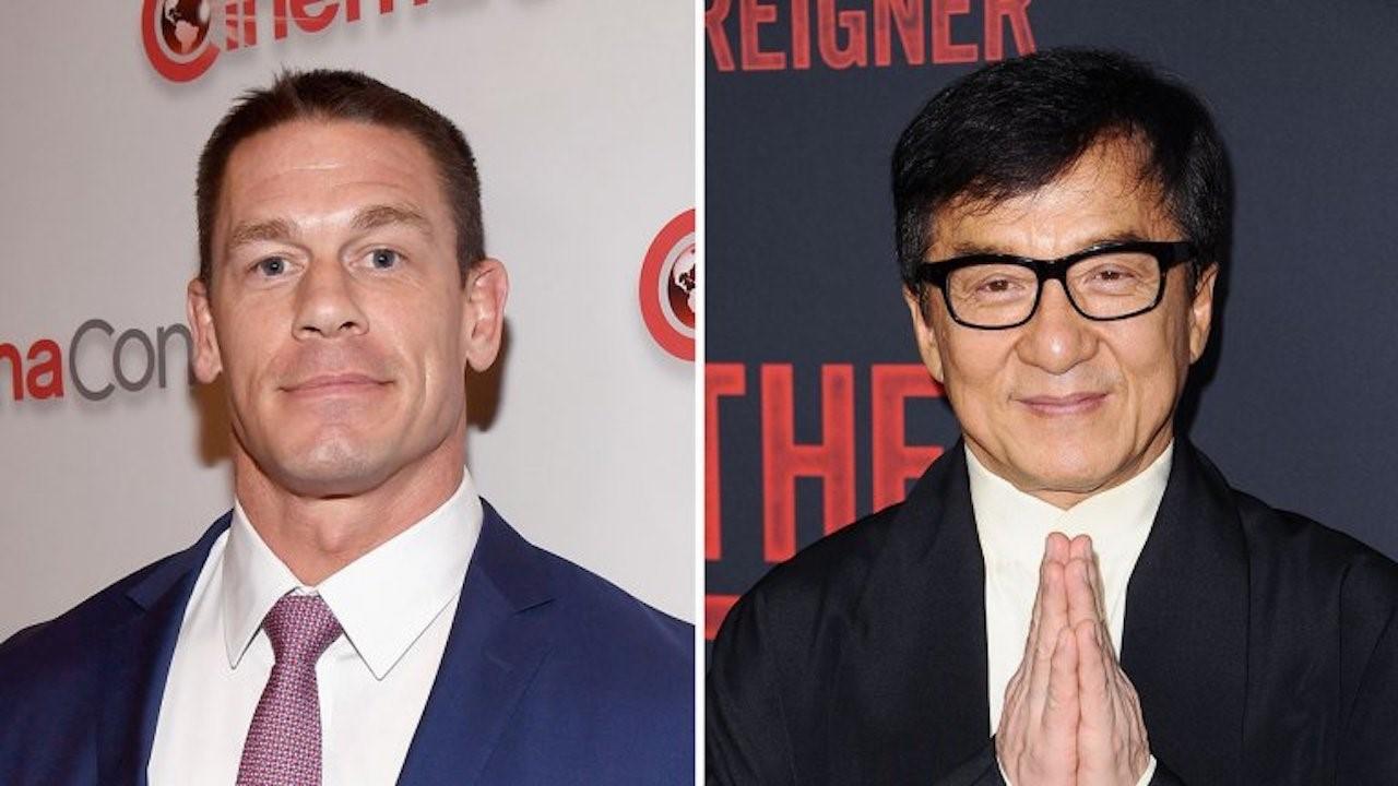 John Cena och Jackie Chan står i kostym.