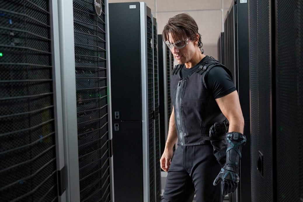 Tom Cruise i Mission: Impossible – Ghost Protocol.