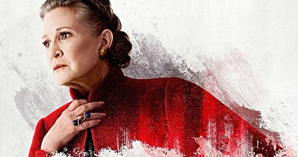 Carrie Fisher som prinsessan Leia.