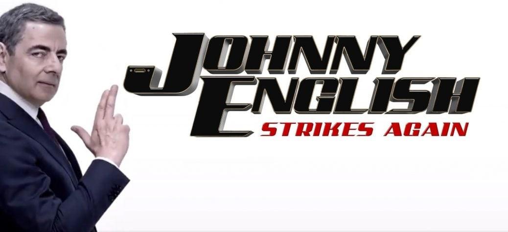 På bilden ser du Rowan Atkinson som Johnny English
