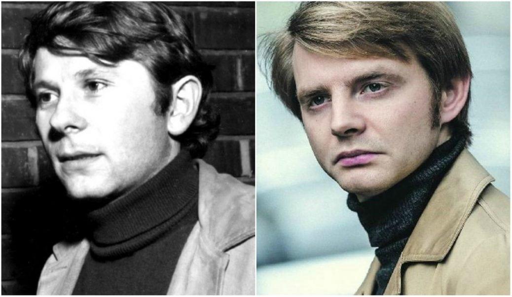 På bilden ser du regissören Roman Polanski och skådespelaren Rafal Zawierucha
