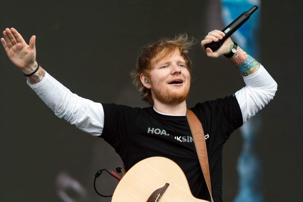 På bilden ser vi Ed Sheeran