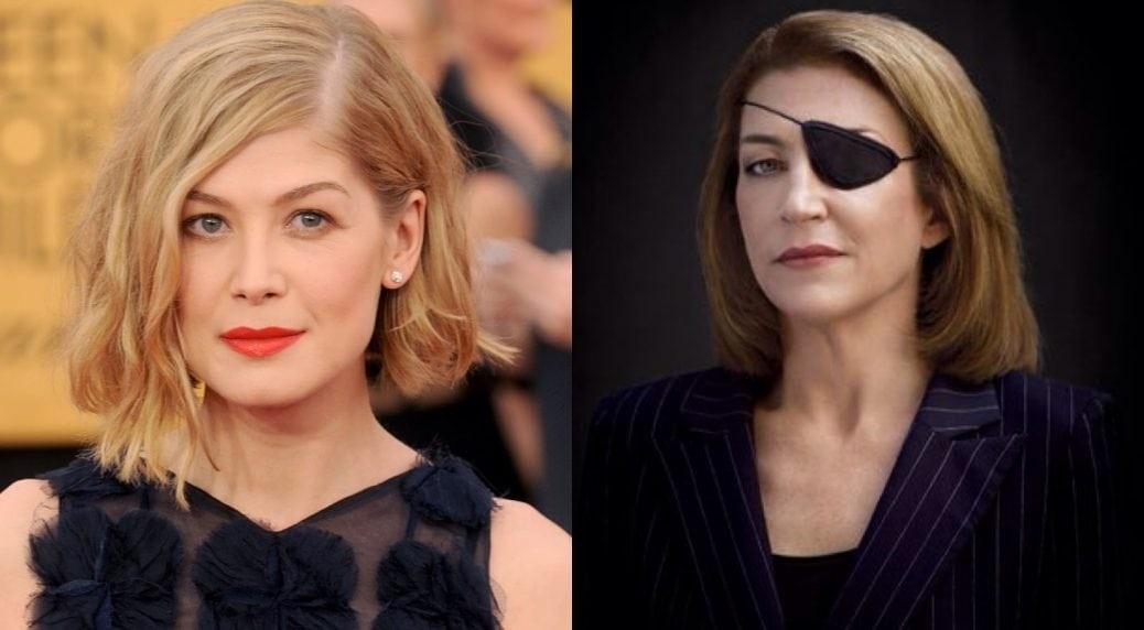 På bilden ser du Rosamund Pike och Marie Colvin