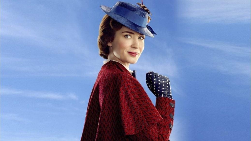 På bilden ser vi Emily Blunt som Mary Poppins