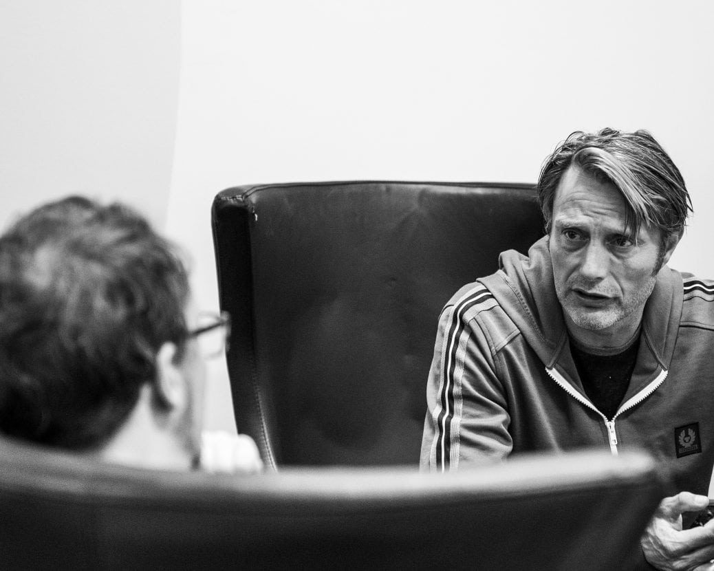 Mads Mikkelsen talking about Lars von Trier.