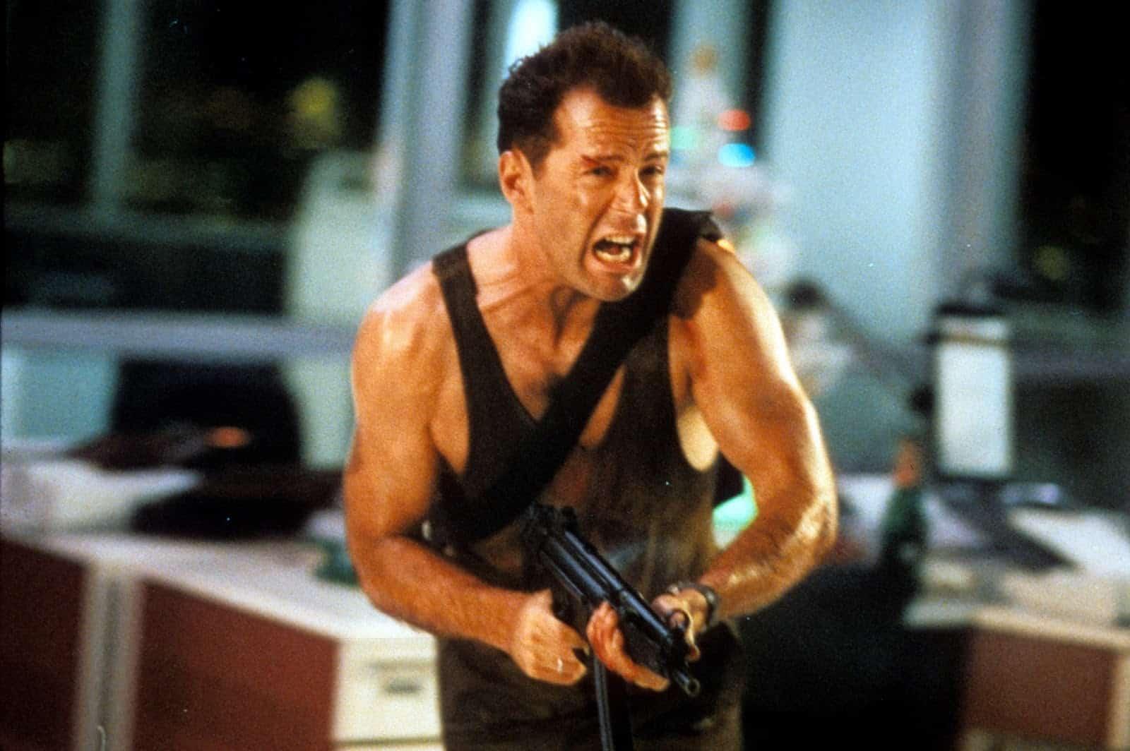Bruce Willis som John McClane i Die Hard.