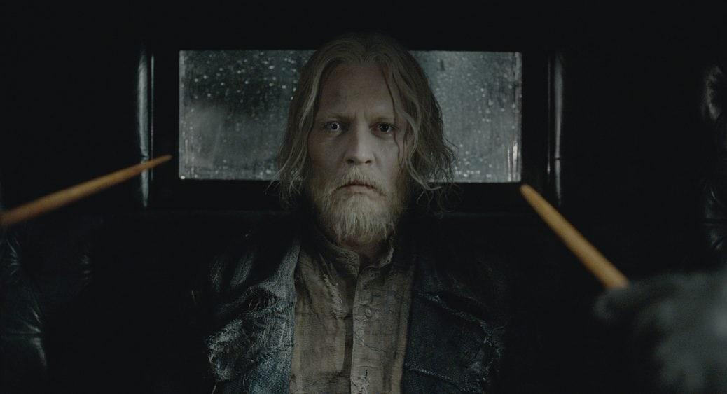 Johnny Depp i Fantastiska vidunder: Grindelwalds brott.