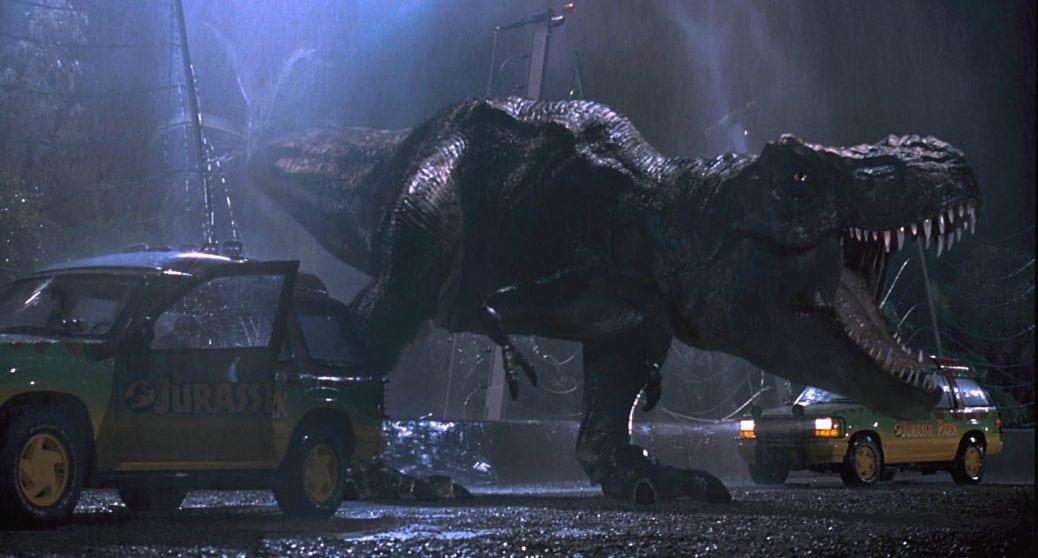 En Tyrannosaurus Rex i Jurassic Park
