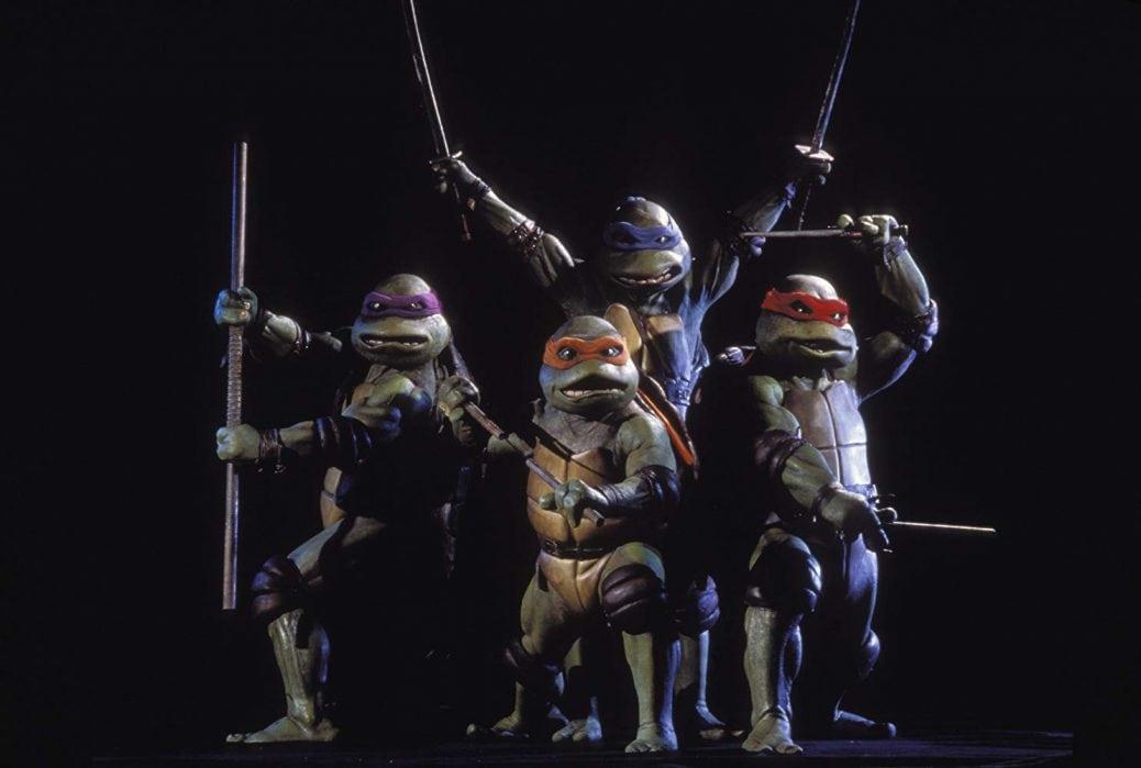 Turtles med samtliga vapen framme