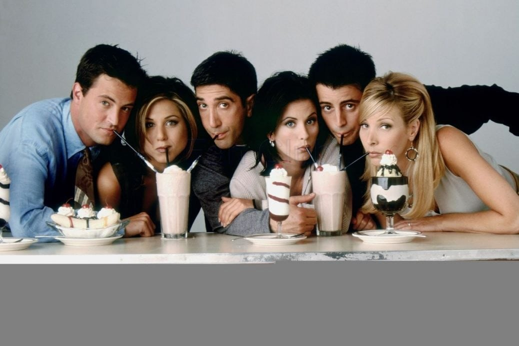 På bilden ser du Friends gänget