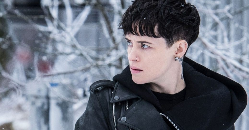 """Claire Foy som LIsbeth Salander i """"The Girl in the Spider's Web""""."""