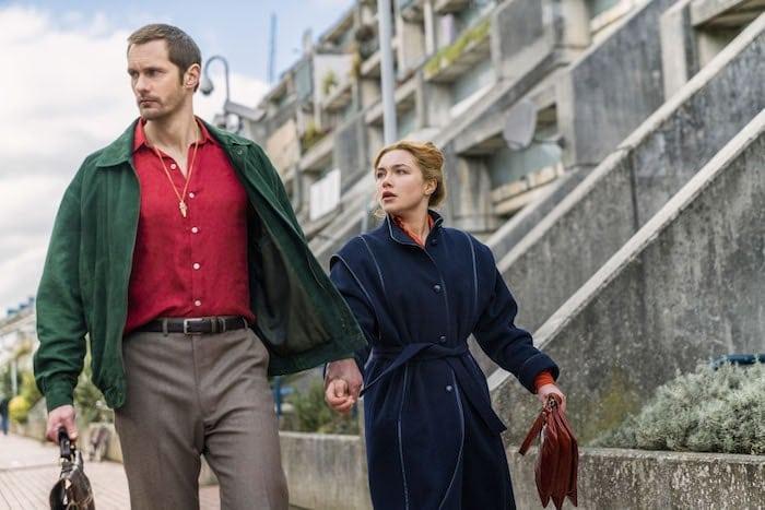 """Alexander Skarsgård och Florence Pugh i John le Carré-adaptionen """"The Little Drummer Girl"""", regisserad av Park Chan-wook."""