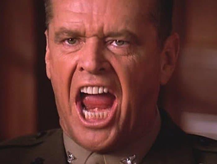 Jack Nicholson i På heder och samvete.