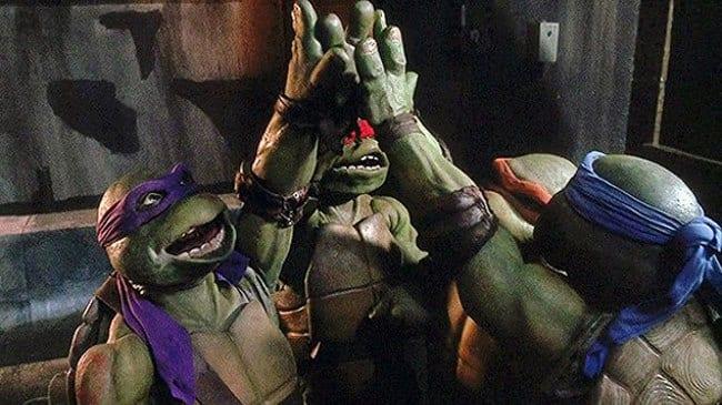 Turtles ger en high-five