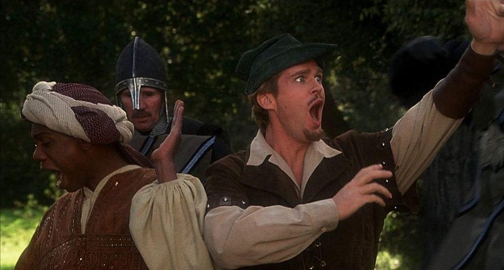 """Cary Elwes i """"Robin Hood – karlar i trikåer""""."""