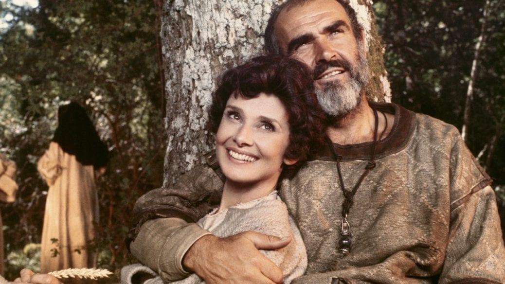 "Audrey Hepburn och Sean Connery i ""Robin and Marian""."