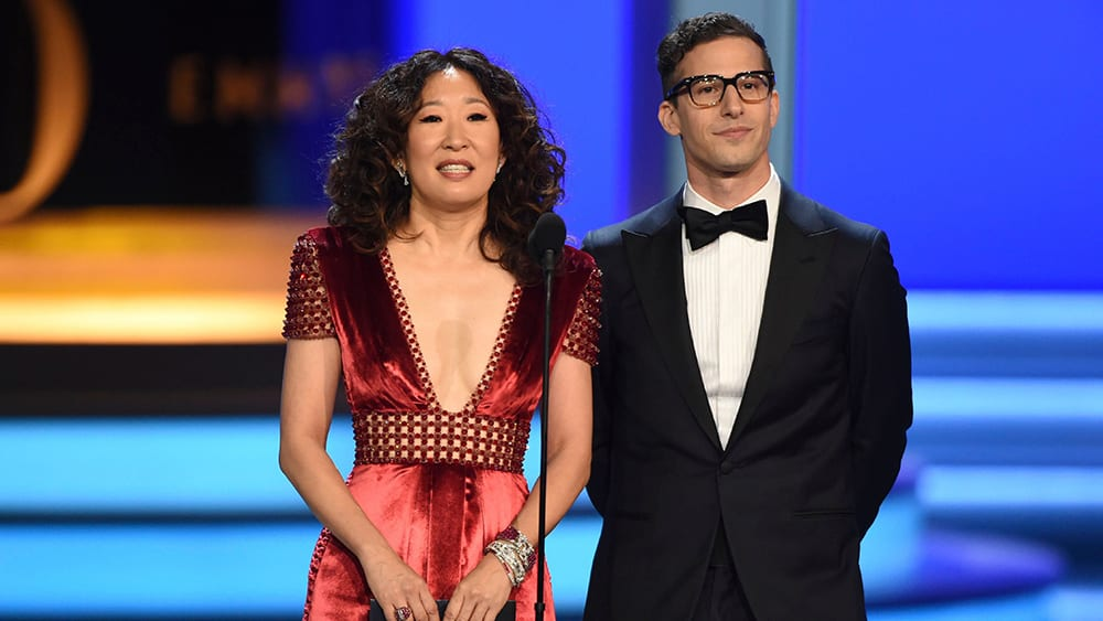 Sandra Oh och Andy Samberg.