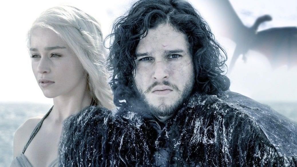 Bild på Jon Snow och Daenerys